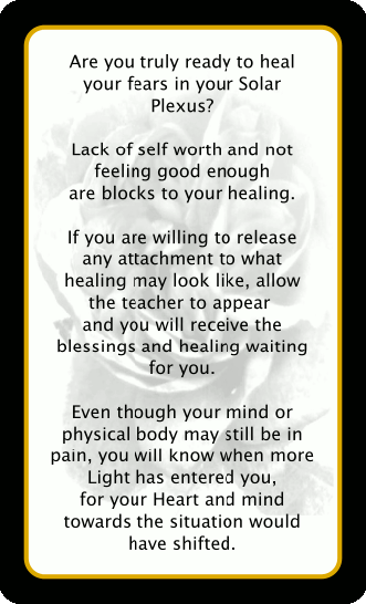 """Back view of the """"Healing is Possible"""" card"""