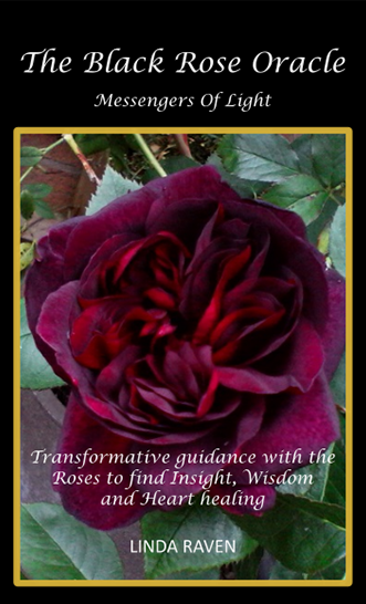Top of the box of The Black Rose Oracle card deck